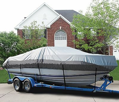 GREAT BOAT COVER FITS BOSTON WHALER OUTRAGE 17 BOW RAILS O/B 1983-1997