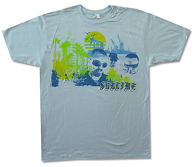 Sublime Gradient Beach On Light Blue T Shirt New Official Xl