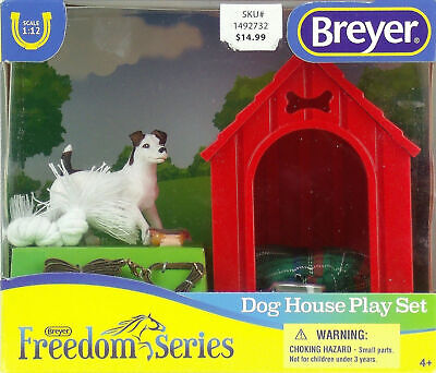 BREYER Freedom Series DOG HOUSE PLAY SET Jack Russell Terrier NEW IN BOX