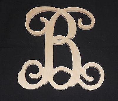 """12"""" Wooden Vine Letter Unfinished wood letters Room Decor Childrens Room"""