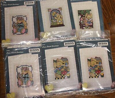 Bunny Cross Stitch Greetings Cards Kit Design Works Crafts Easter You Choose Cross Stitch Kit Design