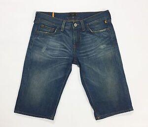 Meltin-pot-penny-shorts-jeans-w26-40-capri-pantalone-donna-bermuda-usato-T1778