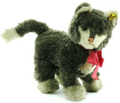 Steiff Katze  Nr. 1825.0 ca. 25cm mmit Knopf und Fahne