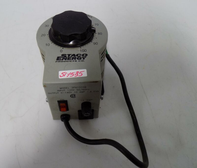 STACO ENERGY VARIABLE AUTOTRANSFORMER 3PN1010B