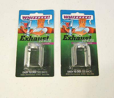 2 New Exhaust Whistles Muffler Tailpipe Trick Whistle Auto Car Joke Gag Gift