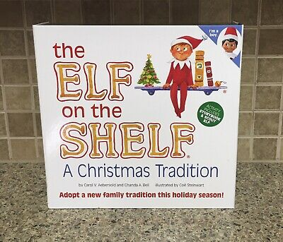 NEW Elf on the Shelf Brown Eyed Dark Skin Boy Doll & Christmas Tradition Book