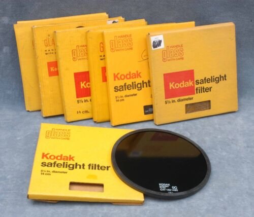"KODAK NOS 5-1/2"" SAFELIGHT FILTER IN BOX - YOUR CHOICE - $21.99 SHIPPED USA"