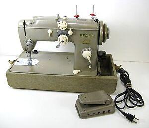 Vtg Pfaff 230 Heavy Duty Sewing Machine W Case Manuals