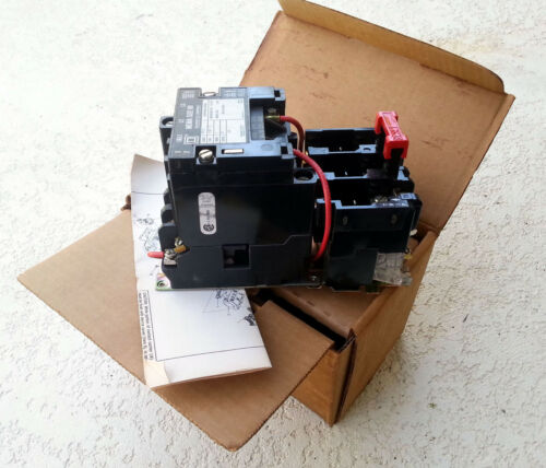 Square D Magnetic Motor Contactor Starter Nema Size 00 Type SA0-12 3 Phase 600v