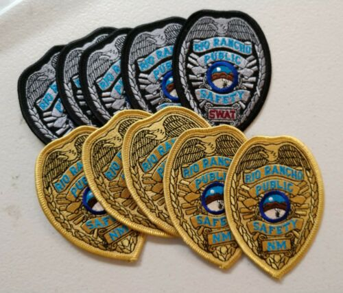 10 Rio Rancho, New Mexico police patches - postpaid