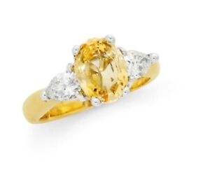 18 kt gold, diamond and sapphire ring