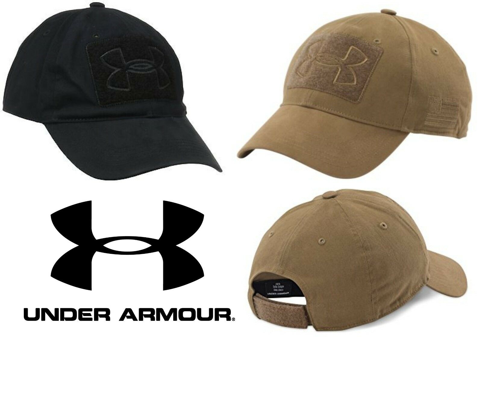 bf0e3df5cc5 Under Armour UA Tactical Patch Cap Operator Hat 1259609 New Black OR Coyote