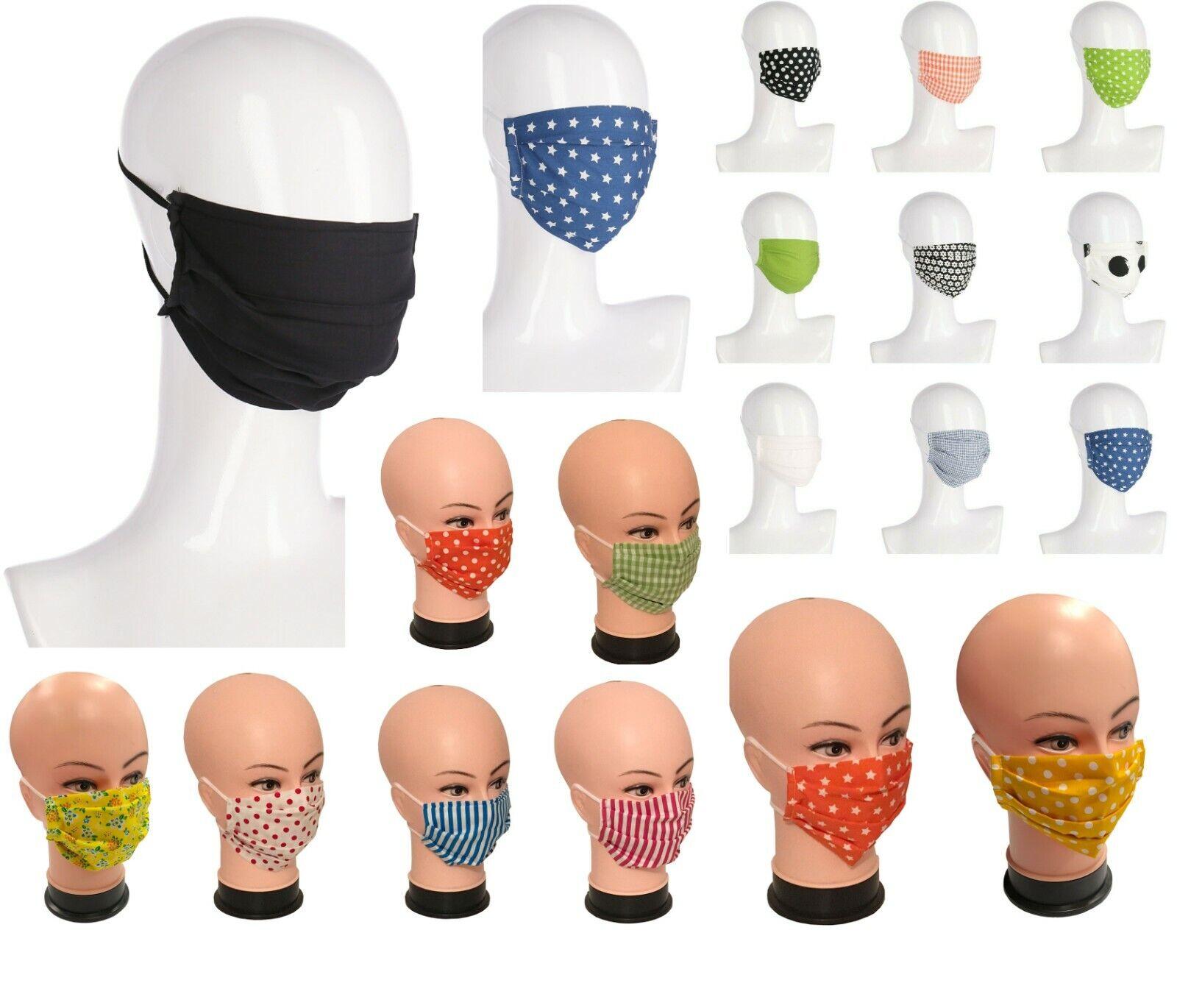 Baumwolle Modische Waschbare Stoffmaske Gesichtsmaske Baumwollmaske Doppellagig