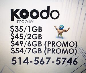 KOODO Canadian Cell Plans / $50 Fee