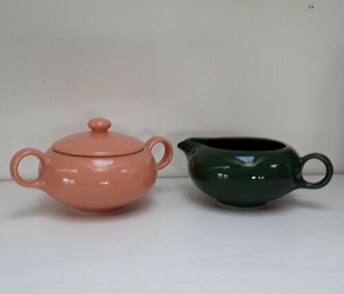 Vintage Mid Century MCM Salem Ranch Style Sugar and Creamer Set
