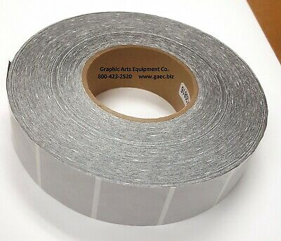 Transparent 1.5 Label Tab Wafer Seal 1-12 Roll Of 4000 Frosted Translucent