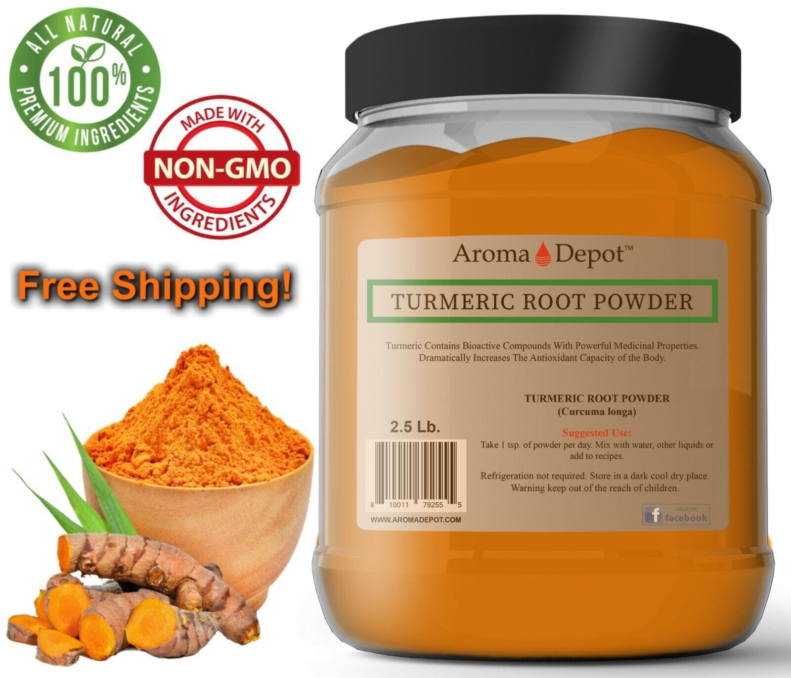 2.5lb Turmeric Root Powder 100% Pure Curcuma Longa Tumeric 4