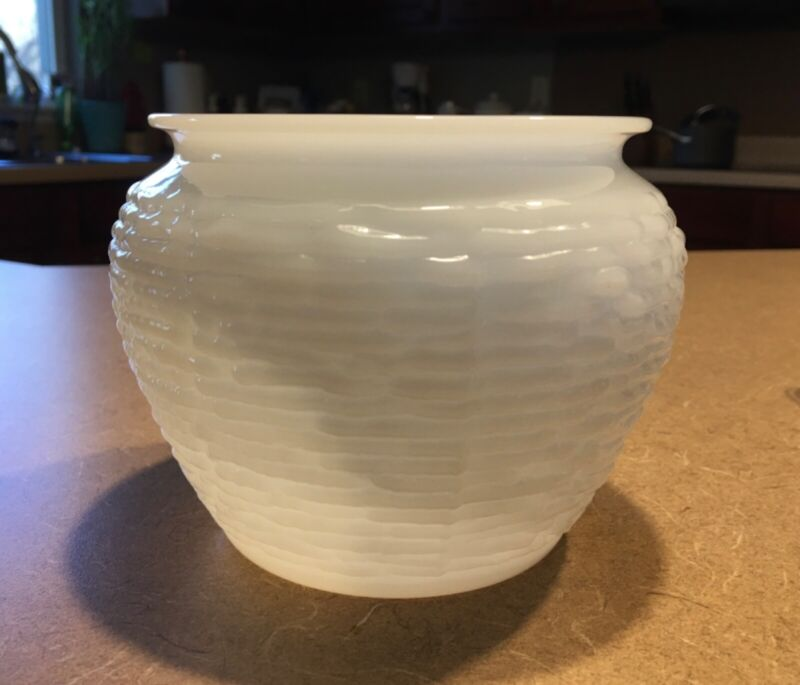 Vintage National Potteries Cleveland OH Beehive jar vase planter division 1162