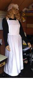 Victorian-Edwardian-Tudor-Maid-waif-Apron-and-mop-cap-set-sizes-8-to-22