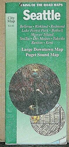 1984 King of the Road Street Map of Seattle Washington