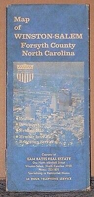 Late 1970's Champion Street Map of Winston-Salem, North Carolina