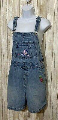 Vintage Overalls & Jumpsuits Vtg DISNEY Eeyore Pooh Denim Jean Overall Shorts Romper Women's Size M $29.50 AT vintagedancer.com
