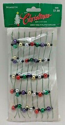 8mm 9' Multi Plaited Christmas Garland, 1993 from The Christmas Collection - New