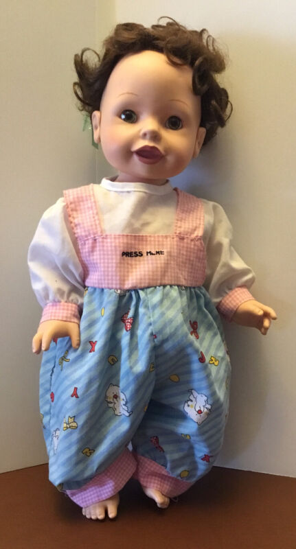 """PLAYMATES 2000 Amazing Babies Brunette BABY GIRL doll 14"""" INTERACTIVE Working"""