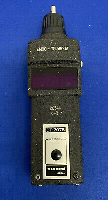 Shimpo Dt-207b Hand Digital Tachometer With Case