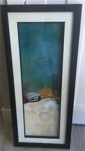 Beautiful modern art, - Black frame with glass & matte $40