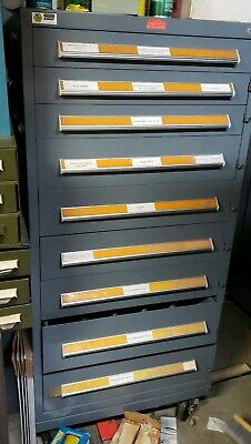 Stanley Vidmar 9 Drawer Industrial Tooling Cabinet