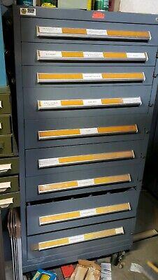 Stanley Vidmar 9 Drawer Industrial Tooling Cabinet