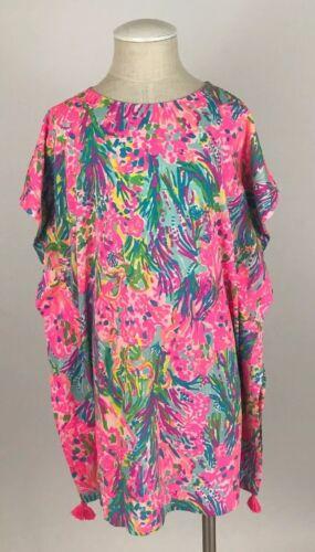 Lilly Pulitzer Girls Via Caftan Cover Up Dress Multi Fan Sea