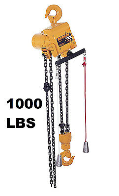 Harrington Tcr Cord Controlled Air Hoist 1000 Lb Capacity 10 Ft Lift