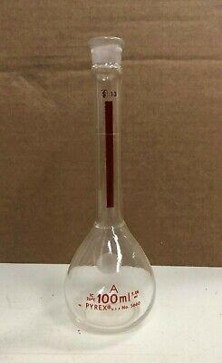 Pyrex 5660 Volumetric Flask W Lifetime Red 100 Ml Chemistry Lab Glassware