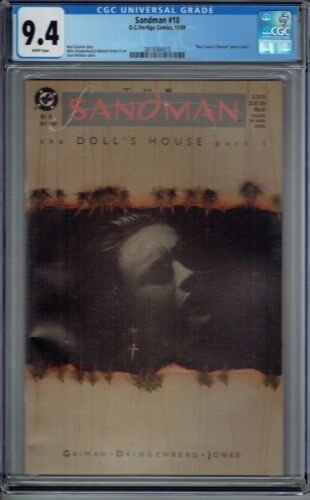 CGC 9.4 SANDMAN #10 1ST APPEARANCE OF CORINTHIAN & DESIRE 1ST PRINT GAIMAN 1989