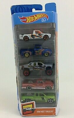 Hot Wheels Hot Trucks 5 Pack FKT63 Die Cast Toy Cars Set Mattel 2018