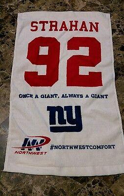 Rare New York Giants Michael Strahan Rally Towel  92 Sga