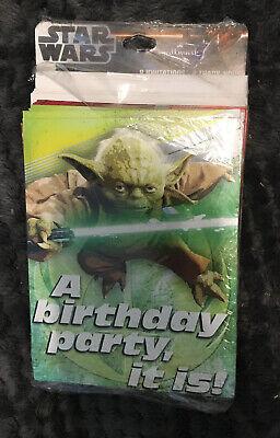 Hallmark Star Wars A Birthday Party, it is! Yoda Birthday Invite Thank You Cards Star Wars Birthday Invitations