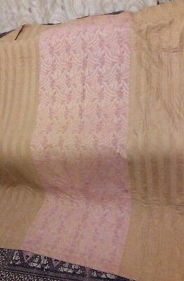antique vintage 1920s 1930s embroidered bedspread durham quilt gold 62