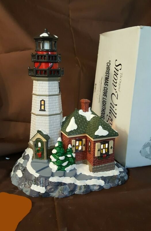 Dept 56 Original Snow Village Series 1995 CHRISTMAS COVE LIGHTHOUSE 54836