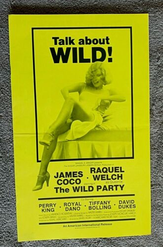 The Wild Party pressbook RAQUEL WELCH James Coco  PERRY KING Merchant-Ivory Film