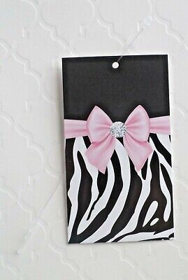 100 Hang Tags Accessories Tag Clothing Tags Pink Bow Price Tags W Plastic Loops