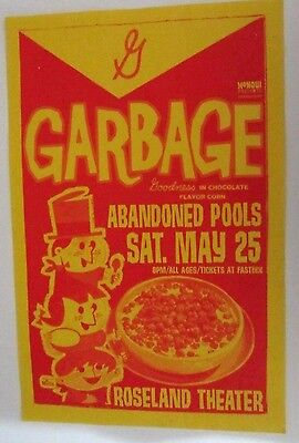 Garbage 2002 Original Roseland Concert Gig Poster Abandoned Pools