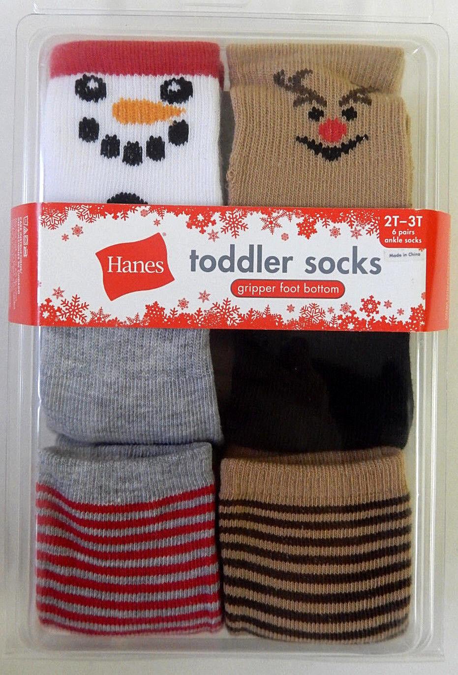 Hanes 12 24 Months 2T 3T 4T 5T 6-pk Ankle Socks Toddler Boy