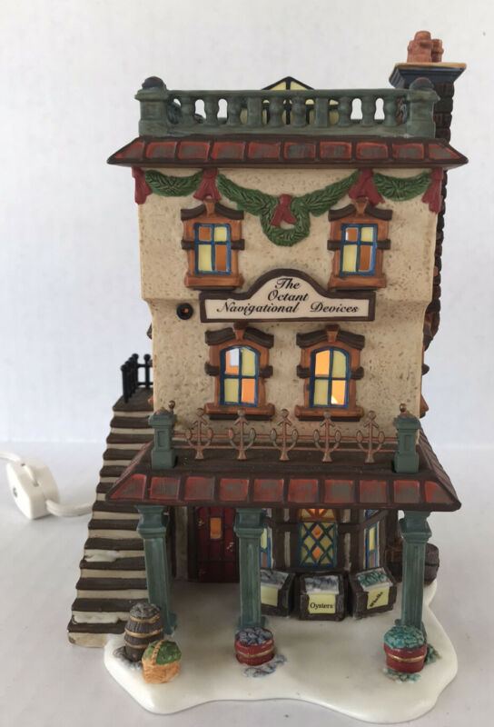 """Dept 56 """"Leed's Oyster House"""" Dickens Village 1999 Lighted Christmas Building"""