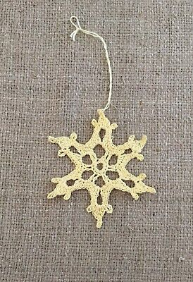 chet Snowflake Christmas Tree Ornament (Crochet Snowflake Ornamente)