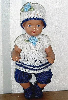 4-tlges Set Jacke Hose  Mütze Schuhe für SK Strampelchen Baby  Puppen 15-17 cm