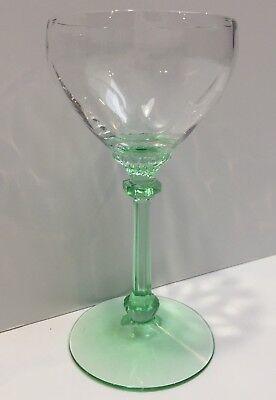 Heisey  3380   Old Dominion Moongleam 3 Oz Liquor Cocktail Diamond Optic  C 1930