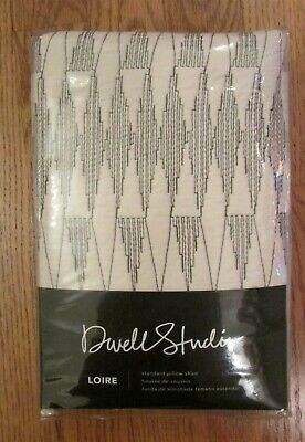 Dwell Studio Standard Pillow Sham LOIRE Pattern Ink NIP